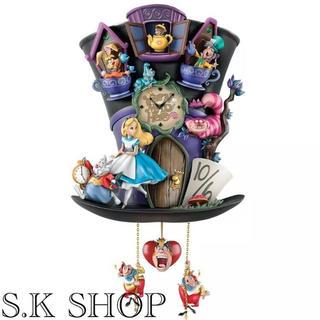 ディズニー(Disney)のディズニー 不思議の国のアリス ふしぎの国 マッドハッター 壁掛け時計 壁時計 (掛時計/柱時計)