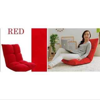 レッド/座椅子/低反発/もっちり/42段階調整/コンパクト(ロッキングチェア)