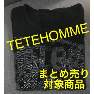 テットオム(TETE HOMME)のテットオム 半袖Tシャツ(黒)(Tシャツ/カットソー(半袖/袖なし))