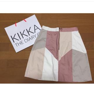 キッカザダイアリーオブ(KIKKA THE DIARY OF)のキッカザダイアリーオブ kikka the 台形スカート デニム(ひざ丈スカート)