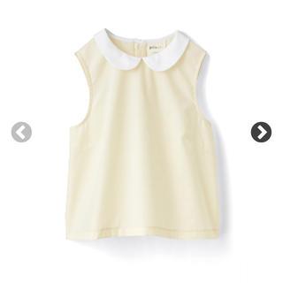ハコ(haco!)の新品✨haco! 短め丈の丸衿ノースリーブトップス Mサイズ(カットソー(半袖/袖なし))