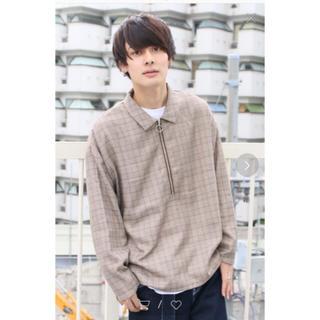 ハレ(HARE)のkutirハーフジップリングシャツ(シャツ)