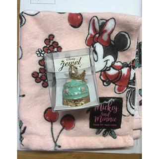 ディズニー(Disney)のアリエル リングケース+ミニーマウス タオル セット(リング(指輪))