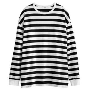 コモリ(COMOLI)のgraphpaper ボーダー 新品未使用 サイズ2(Tシャツ/カットソー(七分/長袖))