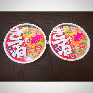 タイトー(TAITO)の赤いきつね ペースインベーダー 40周年コラボバージョン まとめ売り(麺類)