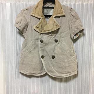 キャピタル(KAPITAL)のkapital  キャピタル Pコート ジャケット 半袖 麻 サイズ0(その他)
