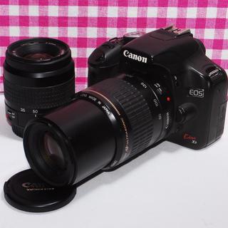 キヤノン(Canon)の⭐ドキドキ・ワクワク⭐Canon Kiss x3 大迫力のダブルズームキット(デジタル一眼)