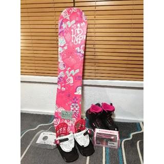 ケーツー(K2)の新品 スノーボード ビンディング セット K2  110 子供 キッズ ジュニア(ボード)