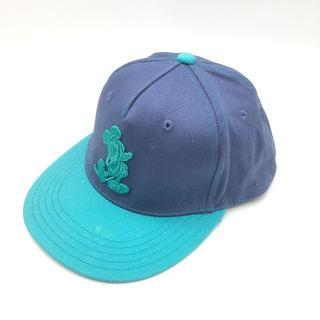 ディズニー(Disney)のDisney ディズニー 帽子 キャップ 野球帽 ブルーxグリーン 57.5c(キャップ)