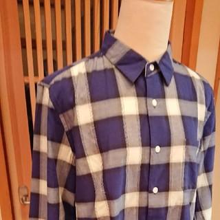 ジュンレッド(JUNRED)のjunred チェックシャツ ブルー(シャツ)