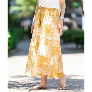 サニーレーベル(Sonny Label)の新品♡定価8964円 アーバンリサーチ ロングスカート イエロー系 フリーサイズ(ロングスカート)