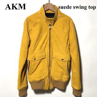エイケイエム(AKM)のAKM ラムレザー/スウェード スウィングトップ M/エイケイエム(レザージャケット)