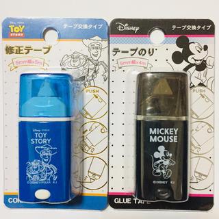 ディズニー(Disney)の新品♡テープのり♡修正テープ♡トイストーリー♡ミッキー(消しゴム/修正テープ)