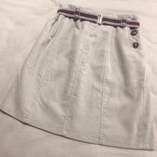 ナイスクラップ(NICE CLAUP)のナイスクラップ ベルト付きコーデュロイミニスカート(ミニスカート)