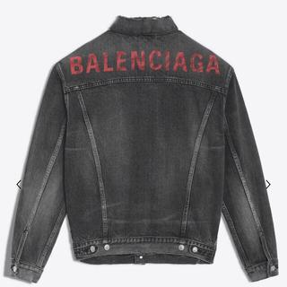 バレンシアガ(Balenciaga)のバレンシアガBALENCIAGA今期新作ロゴ入りデニムジャケット完売商品(Gジャン/デニムジャケット)