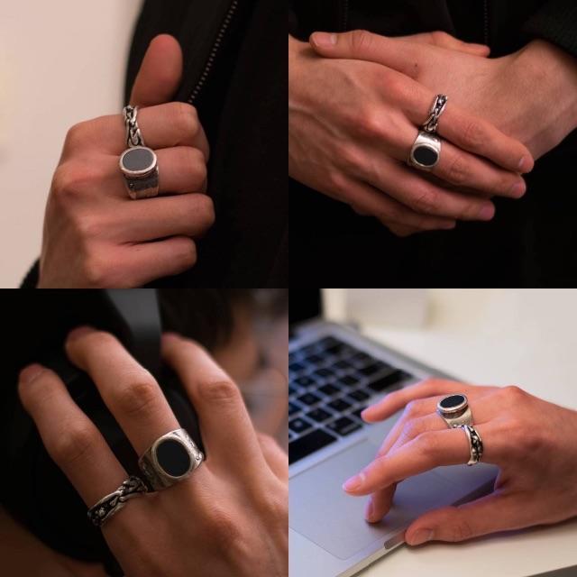 新品■M■マルジェラ 17aw■オーバルリング■シルバー■指輪■5517 メンズのアクセサリー(リング(指輪))の商品写真