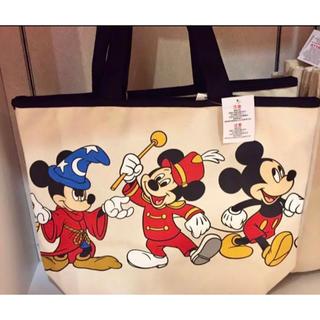 Disney - 【カリフォルニアディズニー 】歴代ミッキー ヒストリー 大きめトートバッグ