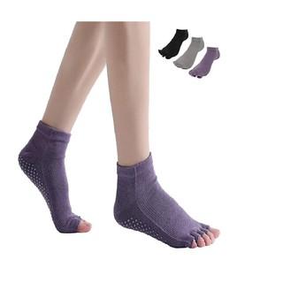 ヨガ ソックス 靴下 3色3足組 綿100% コットン5本指 指なし滑り止め (ヨガ)