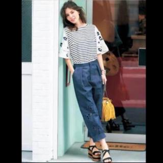 チェスティ(Chesty)のチェスティ♡ Cutwork Embroidery Pants-Denim(デニム/ジーンズ)