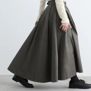 チャイルドウーマン(CHILD WOMAN)の美品   チャイルドウーマンCHILD WOMANチノ フレアーグルカスカート(ロングスカート)