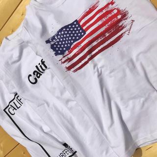 デウスエクスマキナ(Deus ex Machina)の新品☆LUSSO SURF 星条旗Tシャツ M☆ルーカ デウス(Tシャツ/カットソー(半袖/袖なし))