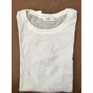ビンス(Vince)の【新品未使用 タグなし】vince 白ティシャツ サイズS(Tシャツ(半袖/袖なし))