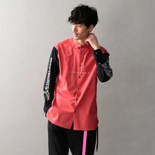 ギルドプライム(GUILD PRIME)のスリーブ ロゴ コンビ シャツ(Tシャツ/カットソー(七分/長袖))