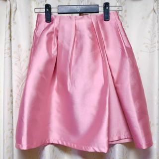チェリーアン(cherry Ann)の♡未使用♡ チェリーアン ランダムタックスカート ピンク フレア(ひざ丈スカート)