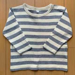 MUJI (無印良品) - 無印良品(MUJI)ボーダー長袖Tシャツ