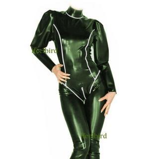 大幅値下げ!ラテックス ラバー キャットスーツ 珍しいグリーン色 訳アリ(その他)