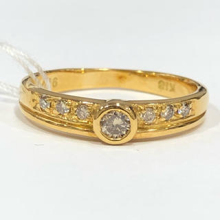 K18 シャンパンブラウンダイヤモンド リング(リング(指輪))