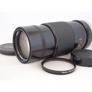 キヤノン(Canon)のCanon FD 200mm f4  S.S.C.ケース付き (レンズ(単焦点))