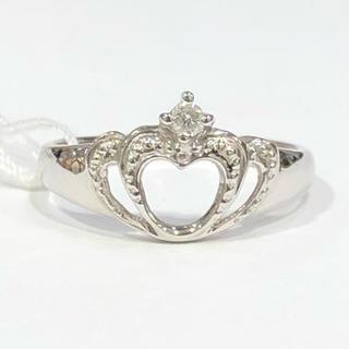 K14WG ダイヤモンド リング 王冠(リング(指輪))