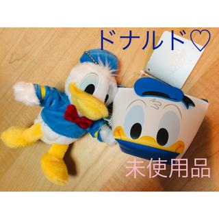 Disney - ディズニー ドナルド ぬいぐるみ ミニポーチ