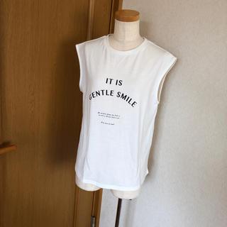 シマムラ(しまむら)の【新品】リボン付きノースリーブ(Tシャツ(半袖/袖なし))