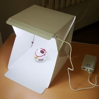LEDライト搭載 写真撮影ボックス(ストロボ/照明)