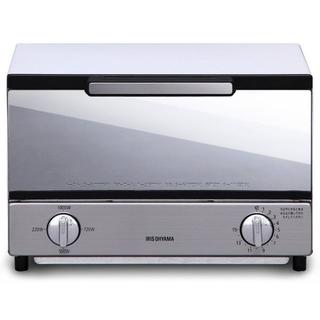 アイリスオーヤマ(アイリスオーヤマ)のバカ売れ☆ オーブントースター トースト2枚 ミラー調(調理機器)