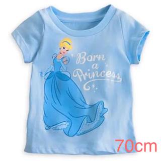 ディズニー(Disney)の新品ディズニーシンデレラ半袖tシャツ ベビー服サイズ70cm(Tシャツ)