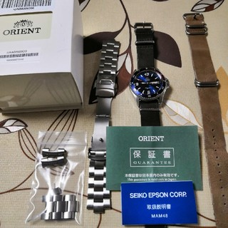 オリエント(ORIENT)のオリエントMako2 ダイバーウォッチ NATOベルト付(腕時計(アナログ))