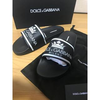 DOLCE&GABBANA - ドルガバ ドルチェアンドガッバーナ 王冠ロゴ サンダル シャワーサンダル