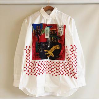 コムデギャルソン(COMME des GARCONS)の新品 コムデギャルソン シャツ × バスキア Wネーム シャツ(シャツ)