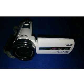 ケンウッド(KENWOOD)のフルハイビジョンビデオカメラGZ-E333-W、ケース付き(ビデオカメラ)