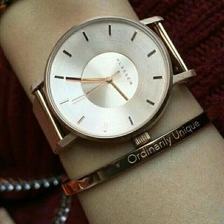 【ローズゴールド42mm】メッシュKlasse14 腕時計とバングル セット