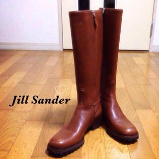 ジルサンダー(Jil Sander)の春 ロングブーツ ブラウン ジルサンダー(ブーツ)