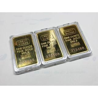 ゴールドバー ゴールドプレート レプリカ 3枚セット(金属工芸)