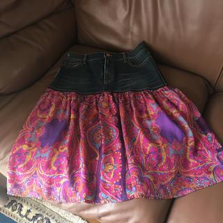 ディーアンドジー(D&G)のドルチェ&ガッバーナ  デニムシルクスカート(ひざ丈スカート)