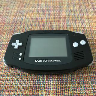 ゲームボーイアドバンス(ゲームボーイアドバンス)のゲームボーイアドバンス 本体 黒(家庭用ゲーム機本体)
