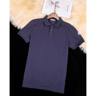 モンクレール(MONCLER)のmonclerポロシャツ半袖Tシャツダークブルー メンズXXLサイズ(ポロシャツ)