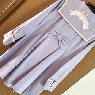 ナイルパーチ(NILE PERCH)のナイルパーチ うさぎワッペンセーラー襟コート(スプリングコート)