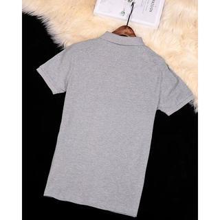 モンクレール(MONCLER)のmonclerポロシャツ半袖Tシャツグレー  メンズXXLサイズ(ポロシャツ)